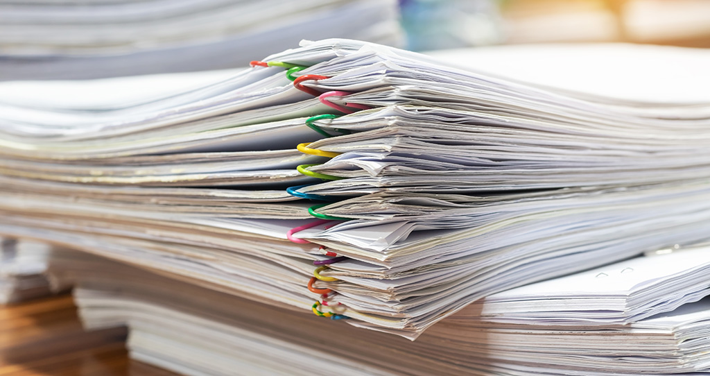 Stack of scientific journal articles