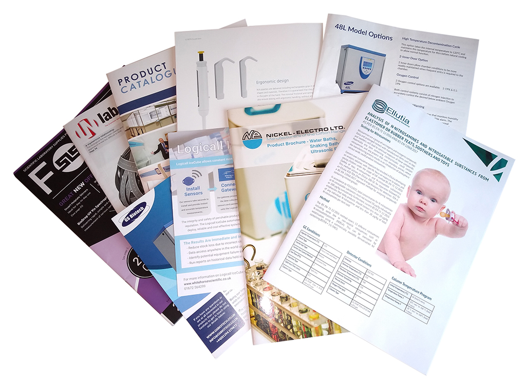 Selection of brochures from LAB Innovations