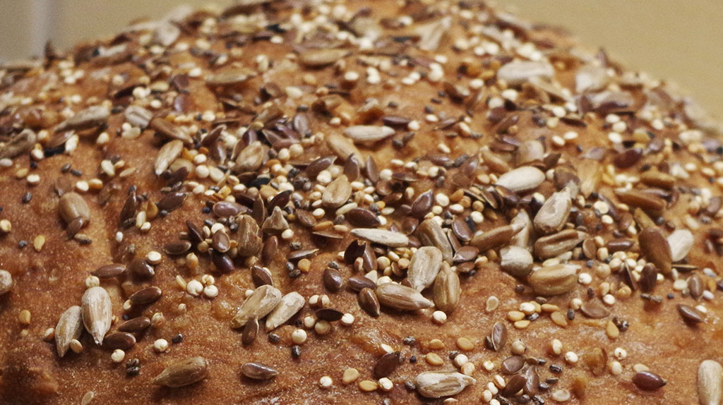 Bread with lots of seeds