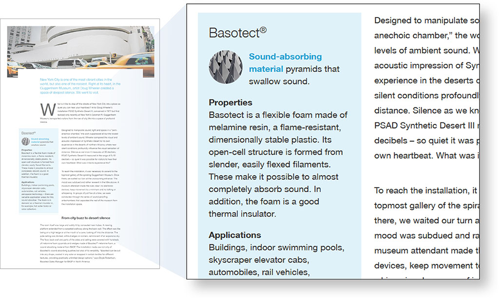 Boxed text on scientific website