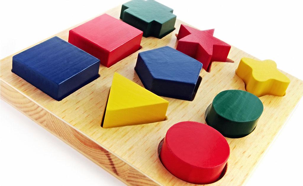 Coloured blocks slotting into place